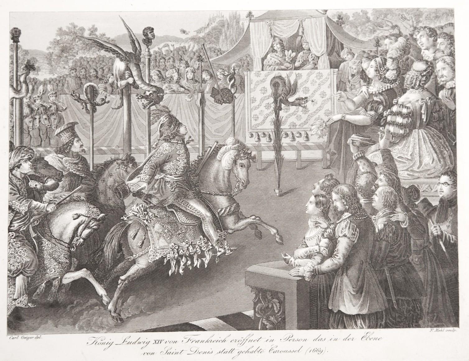 Ludvík XIV. , mědiryt, (1820)