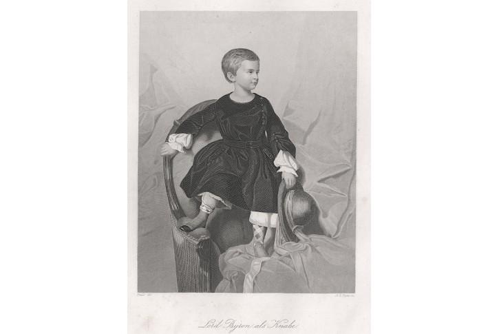 Byron jako chlapec, Payne,oceloryt, 1860