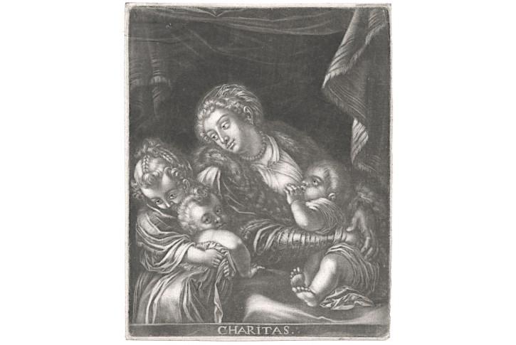 Charitas,  mezzotinta, (1710)