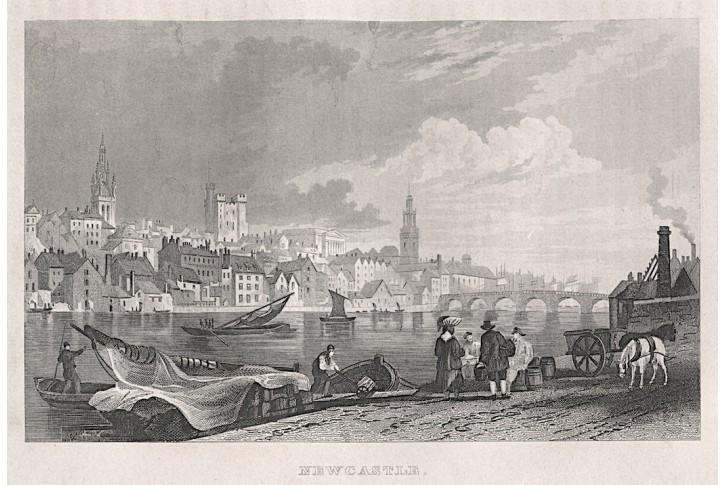 Newcastle, oceloryt, (1850)