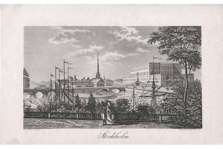 Stockholm , mědiryt, 1820