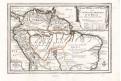 Fer de N.: Brazilie , Peru, Amazonie,mědiryt 1734