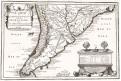 Fer de N.: Chile, la Platta, mědiryt 1734