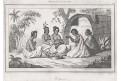 New Zeeland domorodci II., Rienzi, oceloryt,1836