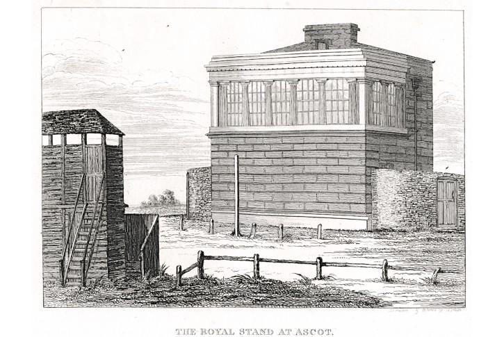 Ascot Royal Stand, mědiryt, 1822