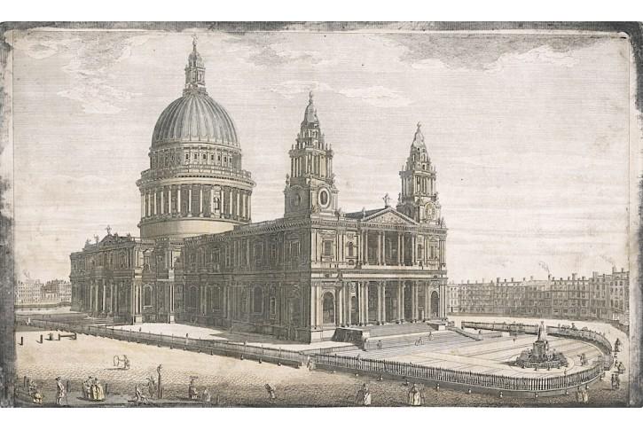 London St. Paul, Müller, kolor. mědiryt, 1753