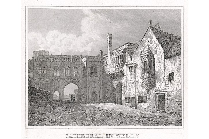 Wells Cathedral, oceloryt, (1840)