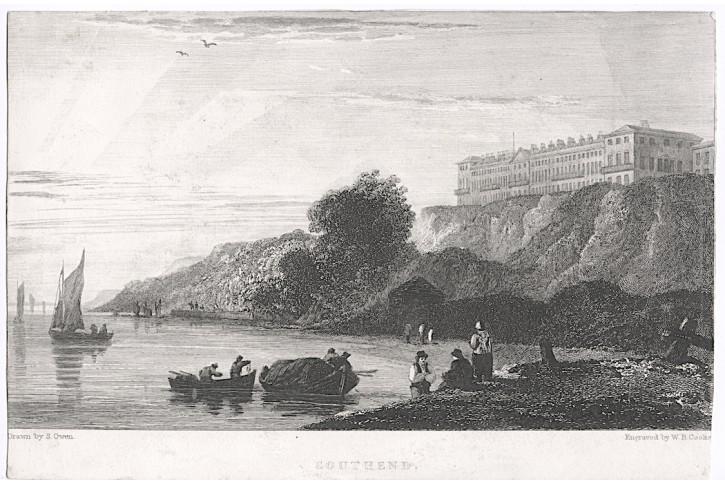 Southend , Cooke, oceloryt, 1828