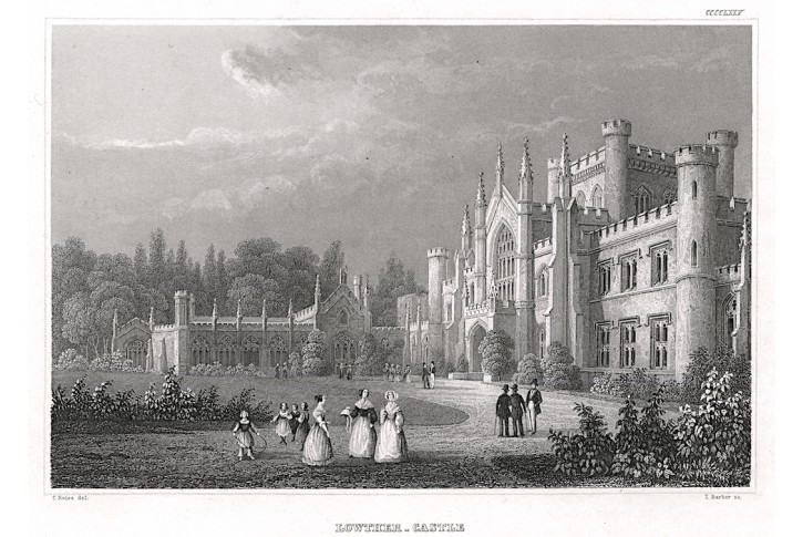 Lowther Castle, Meyer, oceloryt, 1850