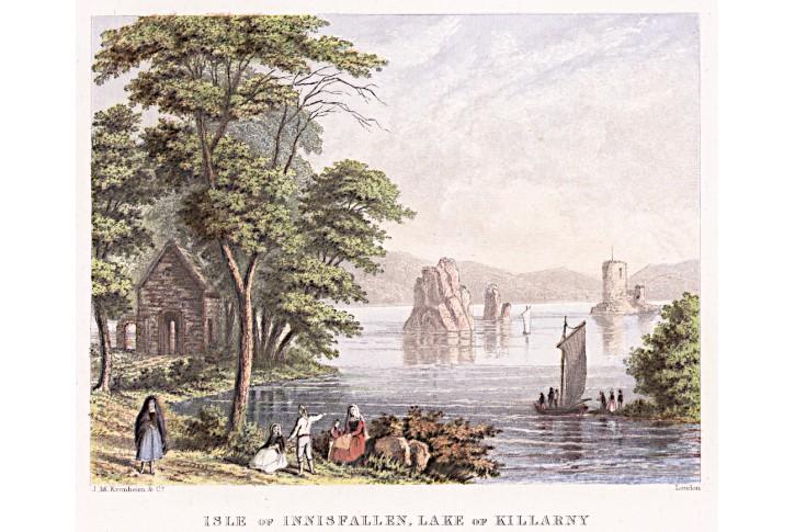 Inisfallen Killarny, kolor. litografie, (1860)