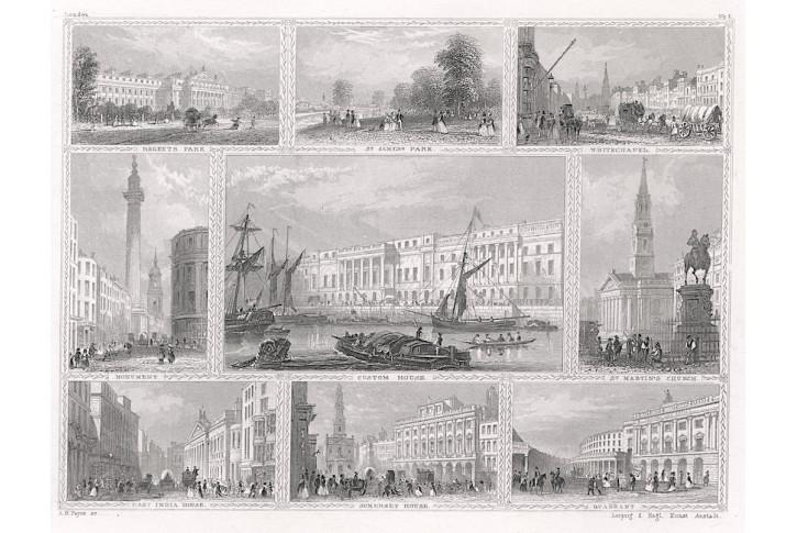 London Nr. 1, Payne, oceloryt, 1850