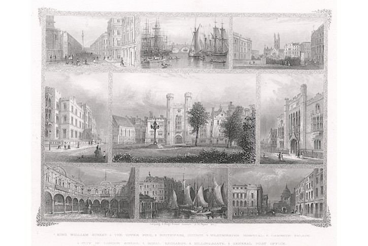 London Nr. 4, Payne, oceloryt, 1850