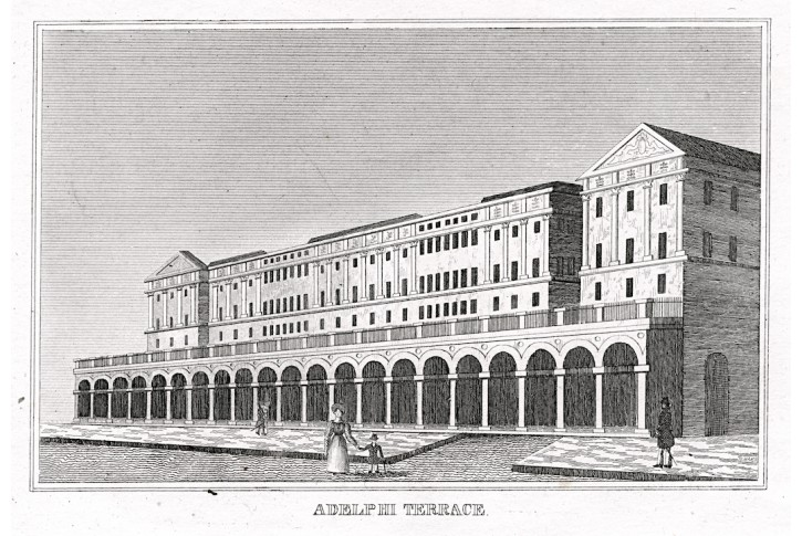 London Adelphi Terace, mědiryt, (1820)