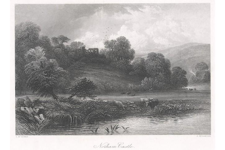 Norham Castle, oceloryt, (1860)
