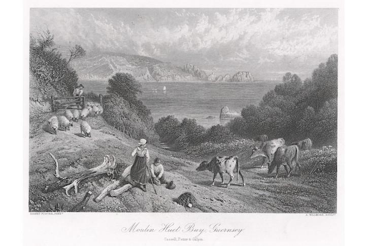 Guernsey Bay, oceloryt, (1860)