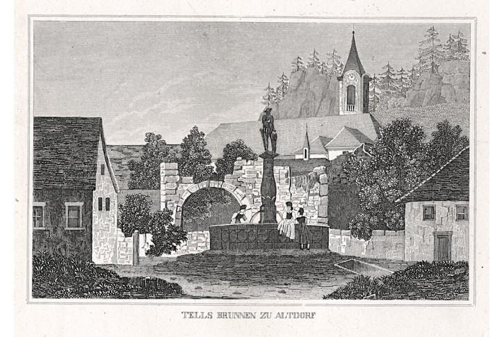 Altdorf, Strahlheim, mědiryt, 1836