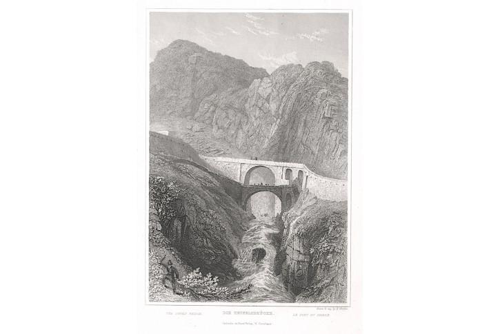 Teufelsbrücke, Zschoke, oceloryt, 1838