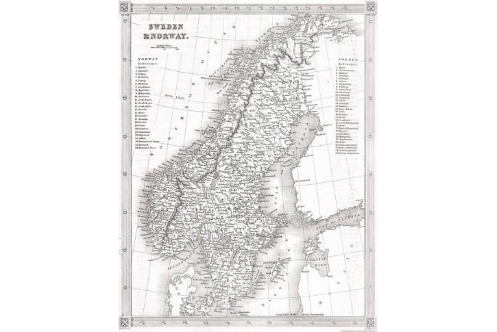 Schweden and Norway, Kelly, oceloryt, (1830)
