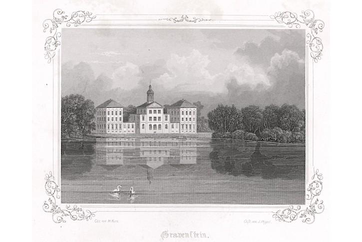 Gråsten Dánsko, Poppel , oceloryt, 1845