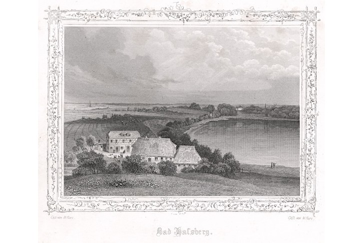 Halsberg Dánsko, Poppel , oceloryt, 1845