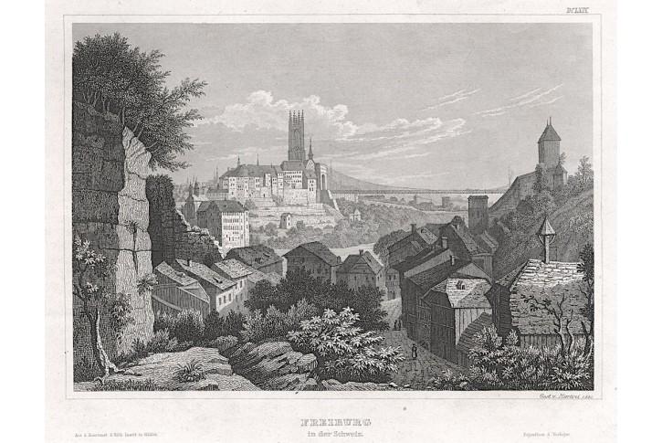 Freiburg, Meyer, oceloryt, 1850