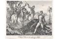 Black Hawk náčelník, Medau, mědiryt , 1840