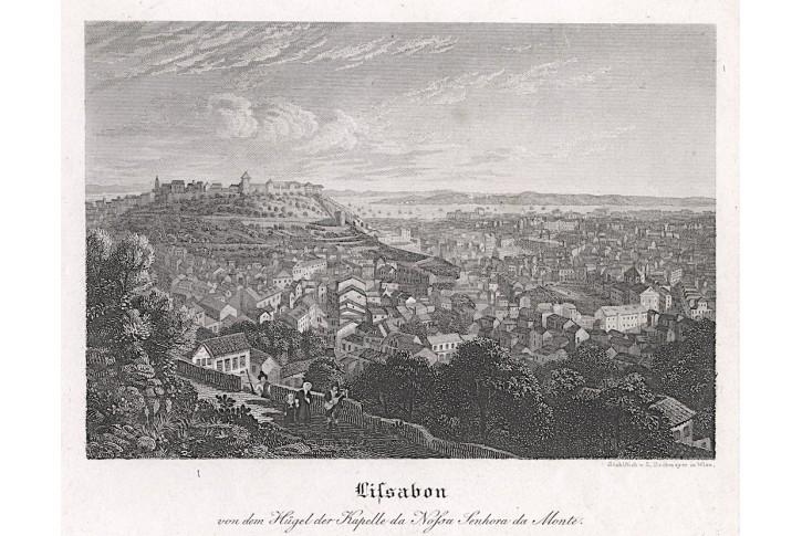 Lisabon,  mědiryt,(1840)