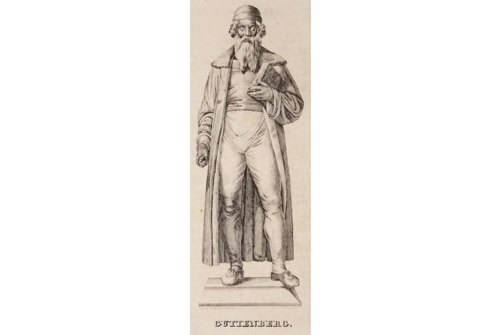 Guttenberg, litografie , 1838
