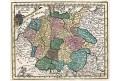 Německo Čechy, kolor. mědiryt, (1760)