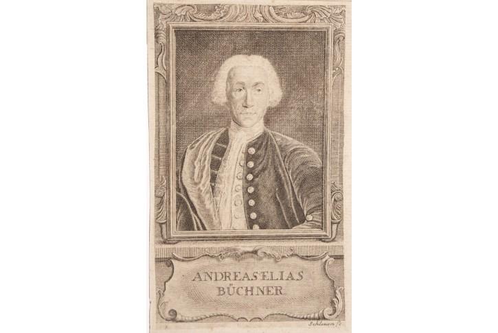 Büchner Andreas Ellias, mědiryt , 18. stol