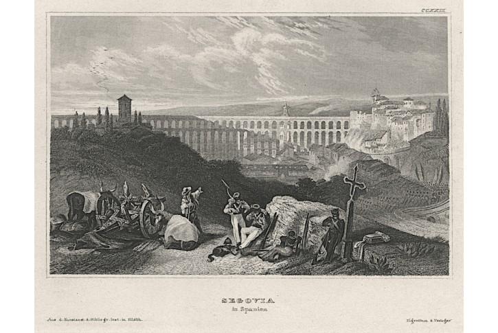 Segovia I. ,Meyer, oceloryt, 1850