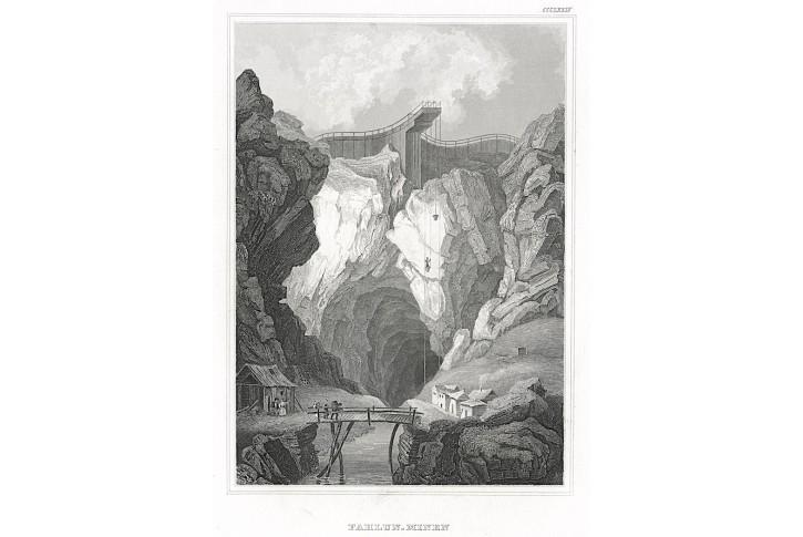 Falun důl, Meyer, oceloryt, 1850