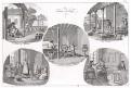 Vlna výroba , Eymery, mědiryt, 1822