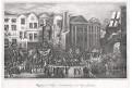 Londýn příjez královny Viktorie, litografie, 1857