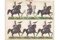Huláni Německo, kolor. litografie, (1870)