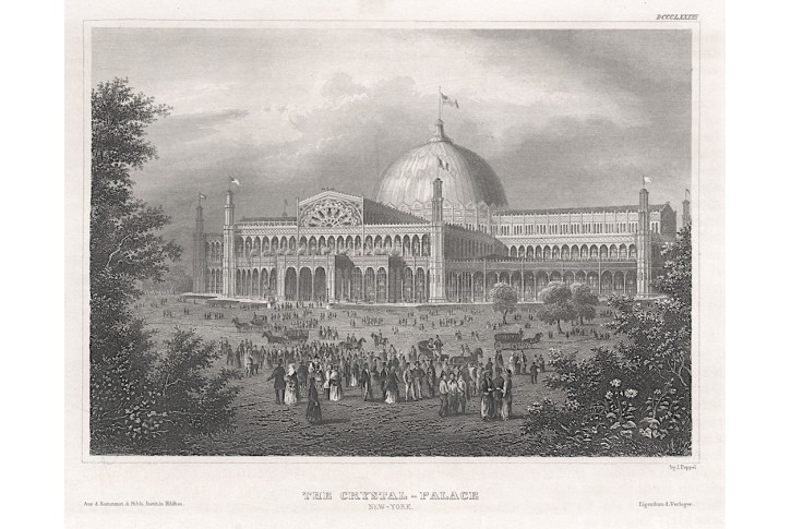 New York Crystal Palace, oceloryt, 1840