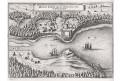 Swinemünde, Swinoujscie, Merian,  mědiryt,  1659