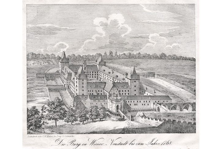 Wiener Neustadt, Medau, litografie, (1850)