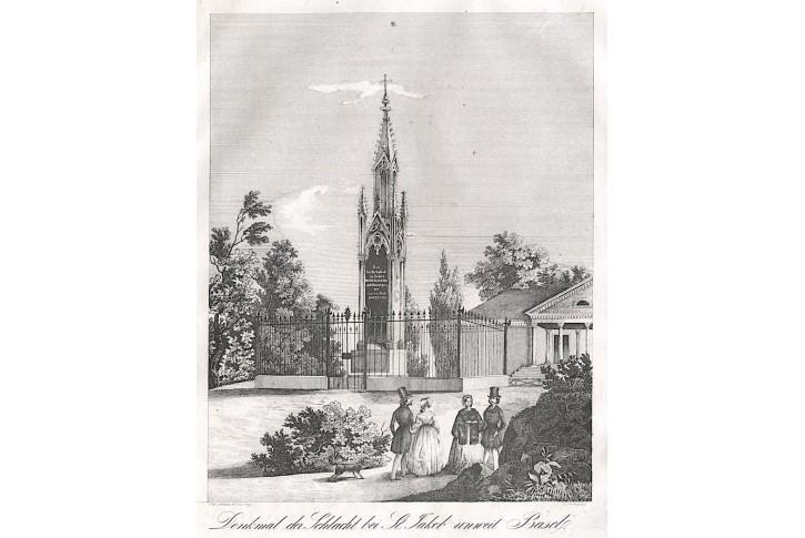 Basel St. Jacob, Medau, litografie, (1850)