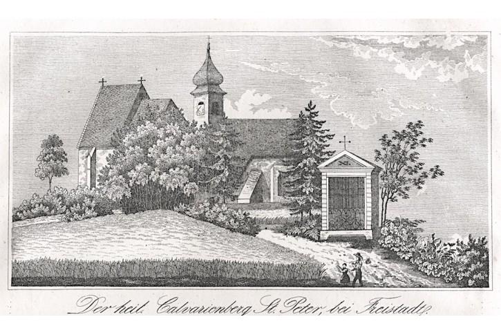Freistadt Calvarienberg,Medau, litografie, (1850)