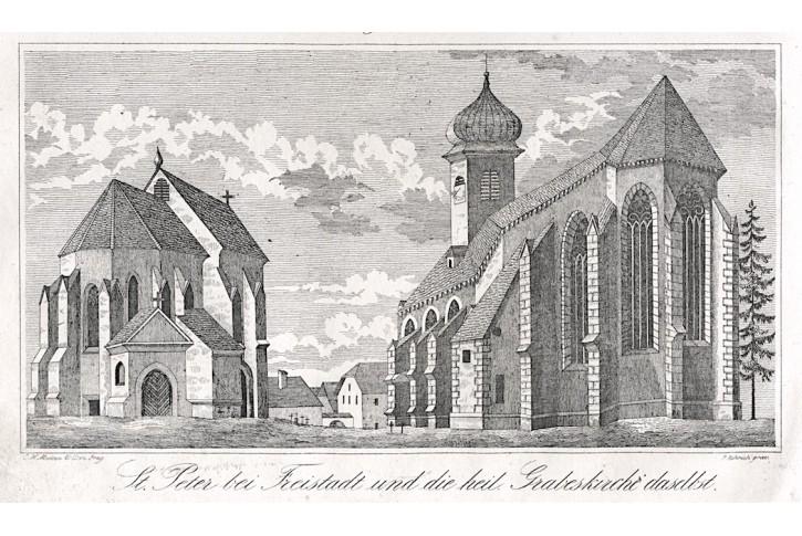 Freistadt St. Peter., Medau, litografie, (1850)