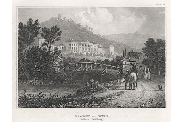 Baden bei Wien, Meyer, oceloryt, 1850