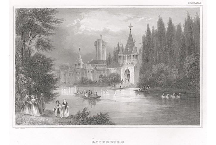 Laxenburg, Meyer, oceloryt, 1850