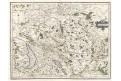 Burgundia , Mercator -Hondius, mědiryt, (1630)