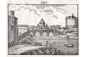 Roma Řím, litografie, (1840)