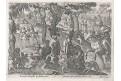 Stradanus - Galle : lov ptáci, mědiryt, 1578