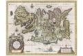 Blaeu : Islandiae, kolor. mědiryt, (1640)
