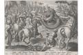 Stradanus -Mallery : lov drak - had, mědiryt, 1578