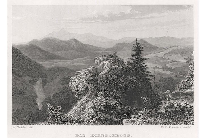 Rogowiec - Hornschloss, Herloss, oceloryt, 1841