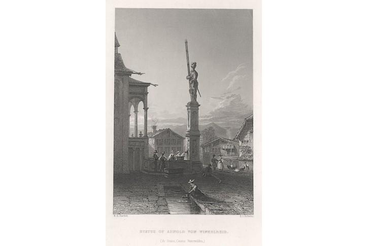 Stanz Winkelreid Statue, Virtue, oceloryt 1836